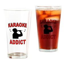 KARAOKE ADDICT Drinking Glass
