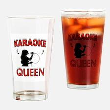 KARAOKE QUEEN Drinking Glass