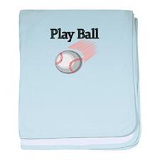 Play Ball baby blanket