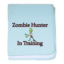 Zombie Hunter in training baby blanket