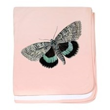 Moth baby blanket