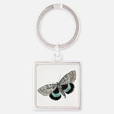 Moth Square Keychain