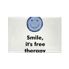 Smile, it's free therapy Rectangle Magnet
