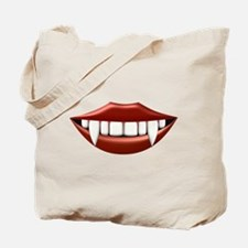 Vampire Teeth Sexy Mouth Tote Bag