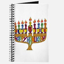 Happy Hanukkah Dreidel Menorah Journal