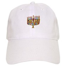 Happy Hanukkah Dreidel Menorah Baseball Cap