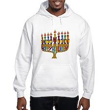 Happy Hanukkah Dreidel Menorah Hoodie