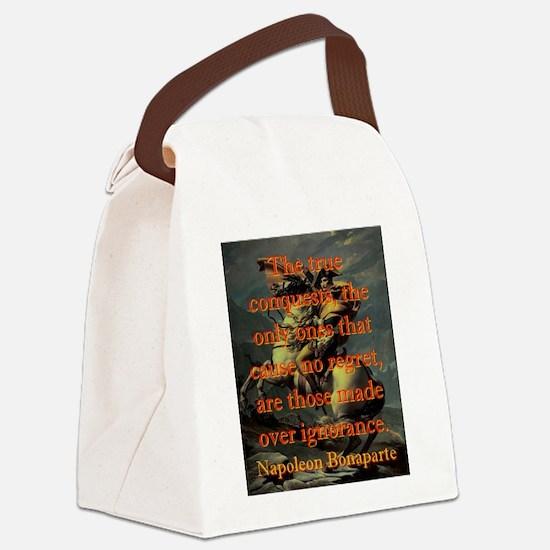 The True Conquests - Napoleon Canvas Lunch Bag