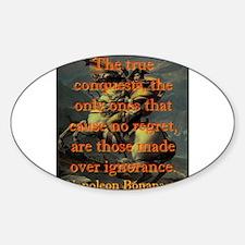 The True Conquests - Napoleon Sticker (Oval)