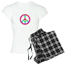 Tie Dye Peace Sign Pajamas
