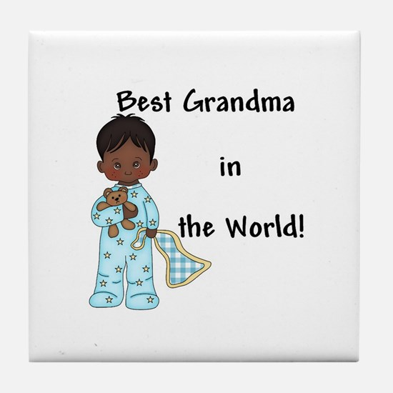 Best Grandma in the World....African American Tile