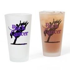 Buck Cancer Drinking Glass