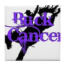 Buck Cancer Tile Coaster