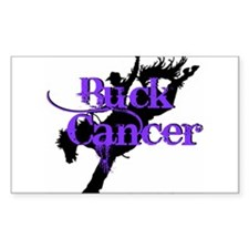 Buck Cancer Decal