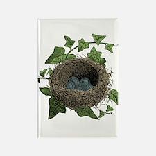 Bird Nest Rectangle Magnet