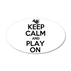Keep Calm and Play On Horn Wall Decal