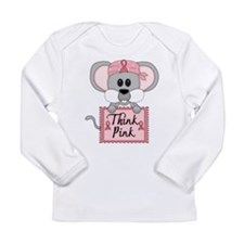 Think Pink Breast Cancer Awareness Mouse Long Slee