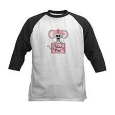 Think Pink Breast Cancer Awareness Mouse Baseball