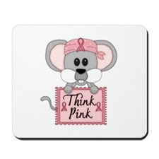 Think Pink Breast Cancer Awareness Mouse Mousepad
