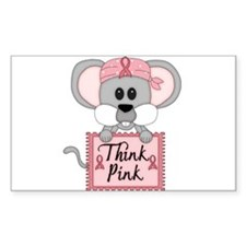 Think Pink Breast Cancer Awareness Mouse Decal