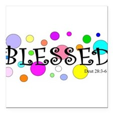 """Blessed Square Car Magnet 3"""" x 3"""""""