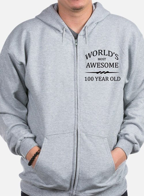 World's Most Awesome 100 Year Old Zip Hoody