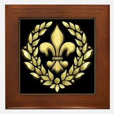 Fleur Laurel Framed Tile