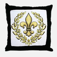 Fleur Laurel Throw Pillow