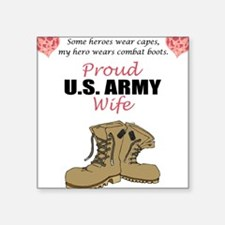 Proud US Army Wife Rectangle Sticker