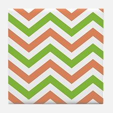chevron stripes Tile Coaster