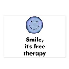 Smile, it's free therapy Postcards (Package of 8)