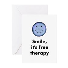 Smile, it's free therapy Greeting Cards (Package o