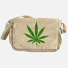 Marijuana Leaf Messenger Bag