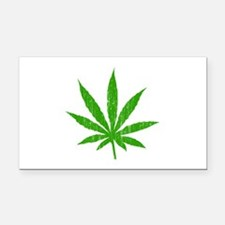 Marijuana Leaf Rectangle Car Magnet