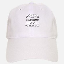 World's Most Awesome 90 Year Old Baseball Baseball Cap