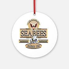 USN Seabees Est. 1942 Ornament (Round)