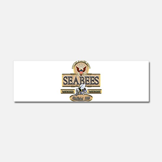 USN Seabees Est. 1942 Car Magnet 10 x 3