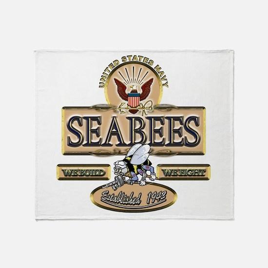 USN Seabees Est. 1942 Throw Blanket