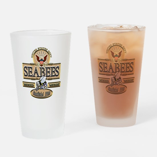 USN Seabees Est. 1942 Drinking Glass