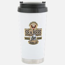 USN Seabees Est. 1942 Travel Mug