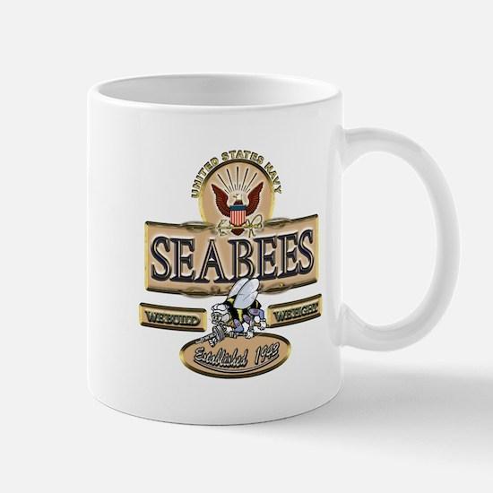 USN Seabees Est. 1942 Mug