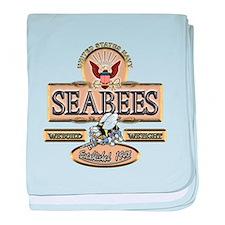 USN Seabees Est. 1942 baby blanket
