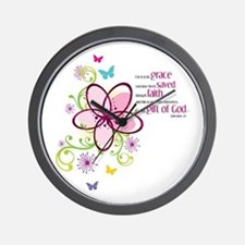 For it is by Grace you have been Saved Wall Clock