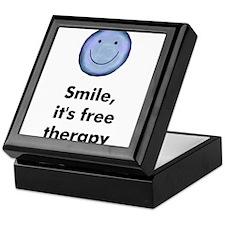 Smile, it's free therapy Keepsake Box