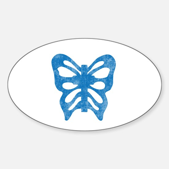 Pretty blue christian cross 1 L h Decal