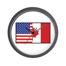 USA/Canada Wall Clock