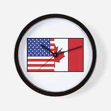 USA/Canada Wall Clock