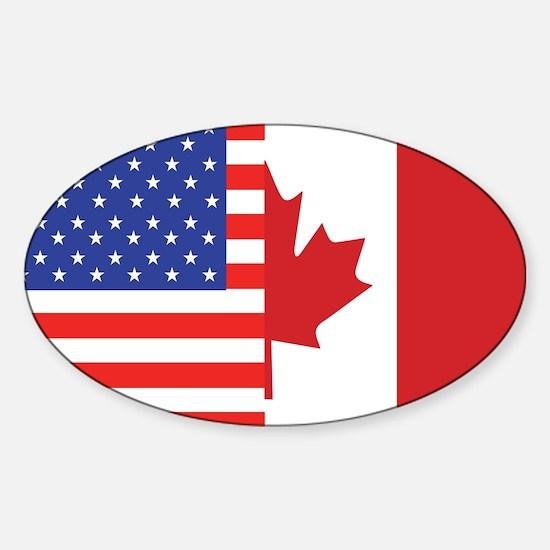 USA/Canada Oval Bumper Stickers
