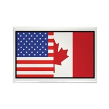 USA/Canada Rectangle Magnet