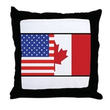 USA/Canada Throw Pillow